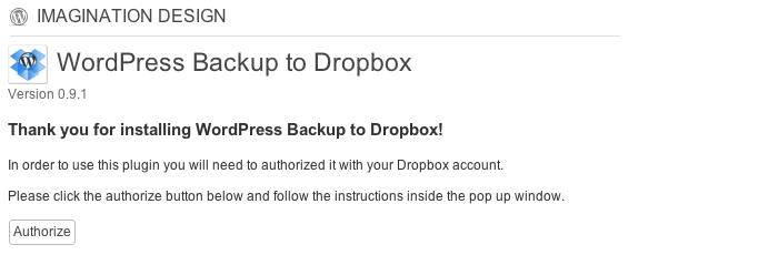 Dropboxとの連携が楽だったので「WordPress Backup to Dropbox」プラグインを使ってみた。