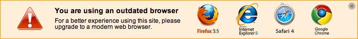 IE6でのアクセス時にアラートを表示させるプラグイン「IE6 No More」をIE7でのアクセス時にも対応させる方法