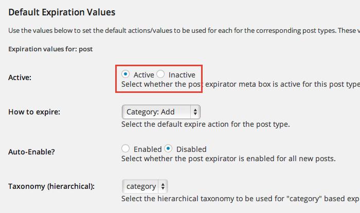 記事の公開期間を設定できるWordPress プラグイン「Post Expirator」